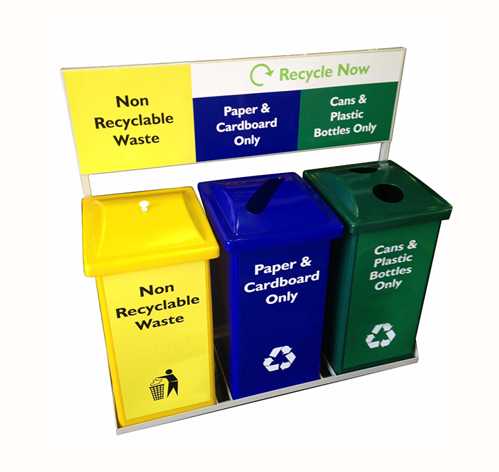 BFA31 90L RECYCLE BIN STATION WITH FRAME